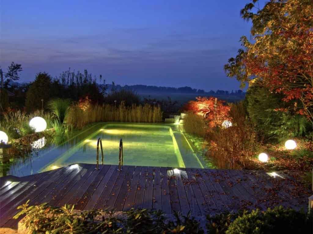Gartenbeleuchtung mit Strom