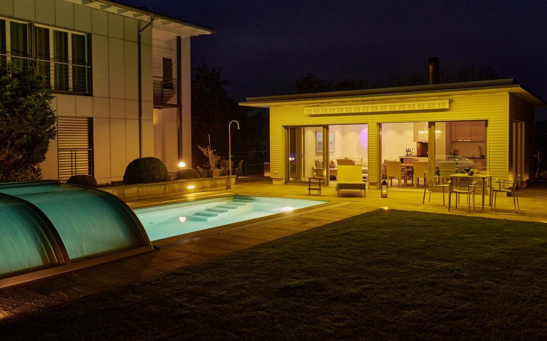 Familie Strehler, Swimmingpool in Ettenhausen